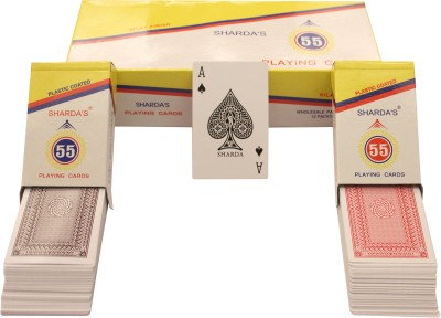 SHARDA NO 55 CLUB QUALITY PLAYING CARDS PACK OF 12