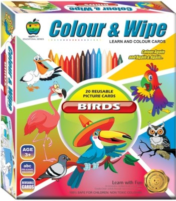 Apple Fun Colour & Wipe Birds Jr.