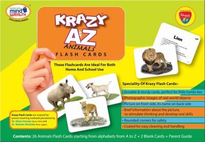 MindWealth Krazy A to Z Animal Flash Cards