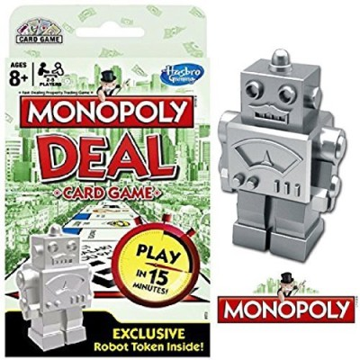 Hasbro Monopoly Deal With Exclusive Robot Token