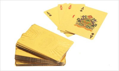 Zavia Playing Card Gold Plated