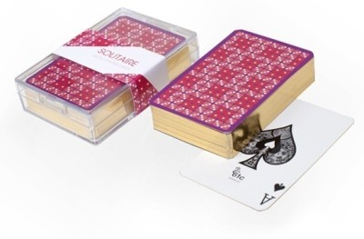 61c Solitaire Gilded Playing Cards
