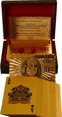 Hayman Gold Plated Playing cards with Exclusive Wooden Box and Certificate