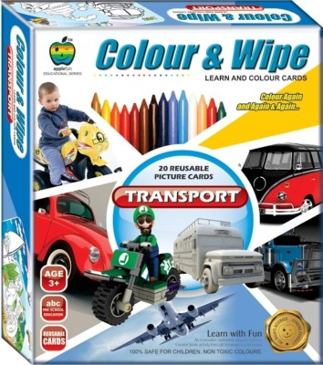 Apple Fun Colour & Wipe Transport Jr.
