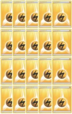 Pokemon 20 Basic Lightning Energy(Xy/Black And White Series