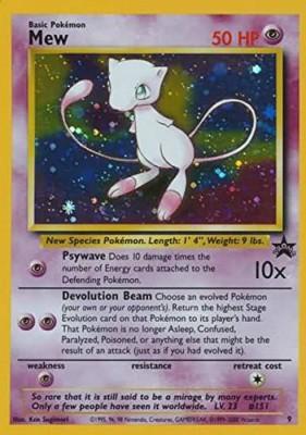 Pokemon Mew ( Tcg ) 19992002 Wizards Of The Coast Exclusive Black