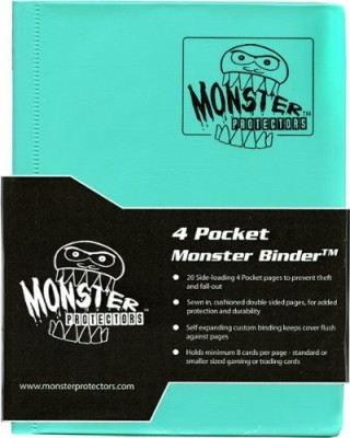 MONSTER BINDERS Monster Binder 4 Pocket Trading Album Matte Teal