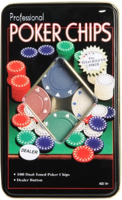 MOG Professional Poker Set (Tin Case) – 100 Chips