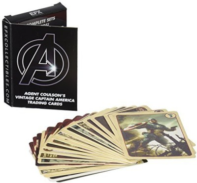 Avengers Agent Coulson,S Vintage Captain America Trading Set