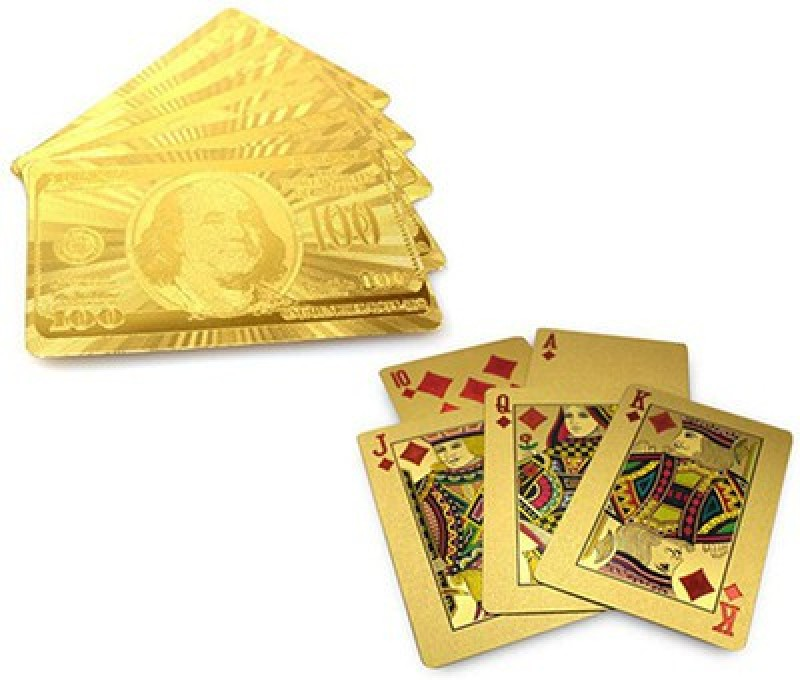 Bird In Blue Queen Collections Gold Foil Playing Cards(Gold)