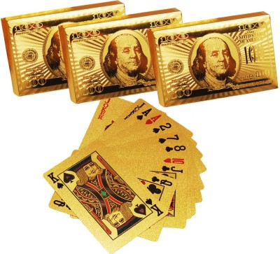 DIZIONARIO Golden Playing Cards set of three