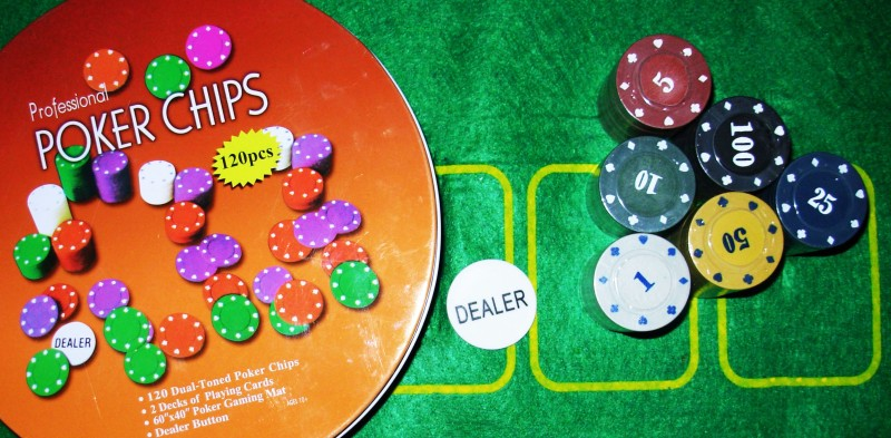 Asquare Mart 120 Chips Professional Poker Set(Orange)