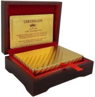 Quirky Gold Plated Cards with Wood Box and Certificate 100 EURO(Gold)