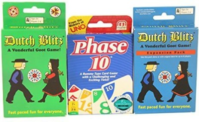 Maven Gifts Dutch Blitz Bundle With Bonus Phase 10