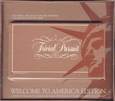 Selchow & Righter Trivial Pursuit Welcome To America Edition Set (For Use