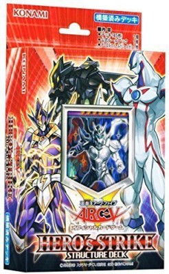 Konami Yugioh Arc Five Structure Deck Hero,S Strike (Japan Import)
