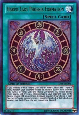 Yu-Gi-Oh! Harpie Lady Phoenix Formation (Lc04En002) Legendary