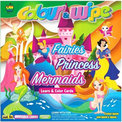 Lotus Apple Fun Colour & Wipe Fairies Princess Mermaid