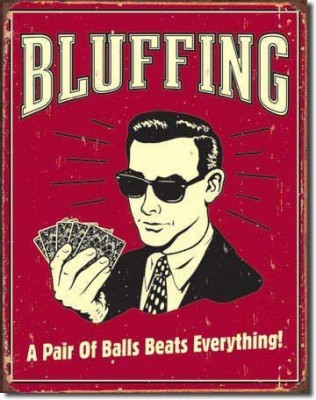 Poster Discount Poker Bluffing A Pair Of Balls Beats Everything Distressed
