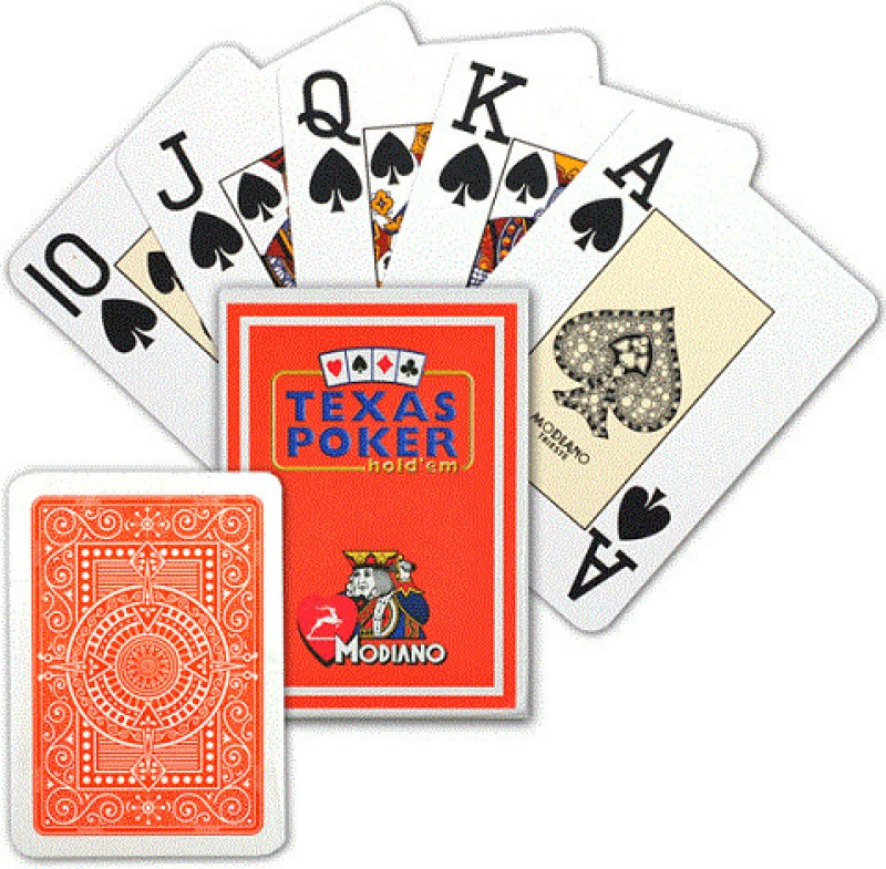 Modiano Texas Poker Jumbo Orange