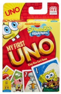 Mattel Games Spongebob Squarepants My First Uno