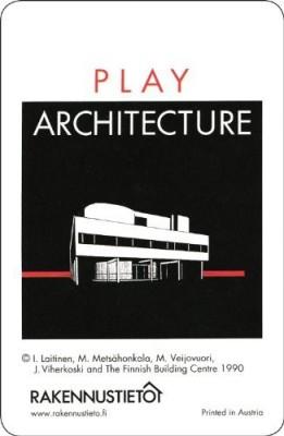 Rakennustieto Publishing Play Architecture 54 Playing Cards