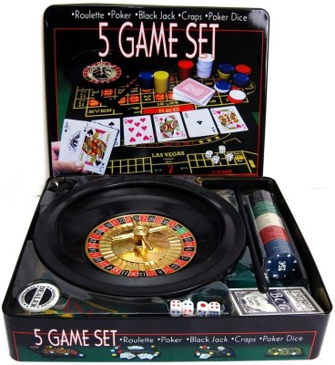 MOG 5 in 1 Casino Game Set