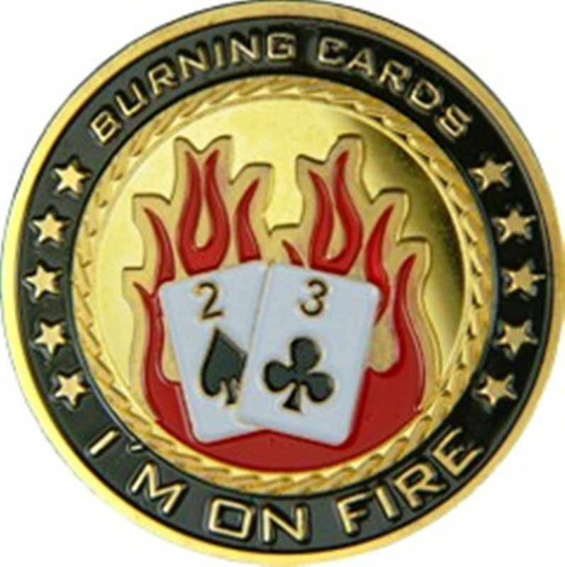 Casinoite I'm On Fire Card Guard(Multicolor)