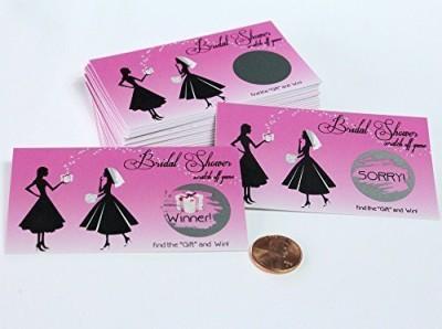 My Scratch Off Labels, LLC Funny Pink Vintage Bridal Shower Scratch Off Set 25