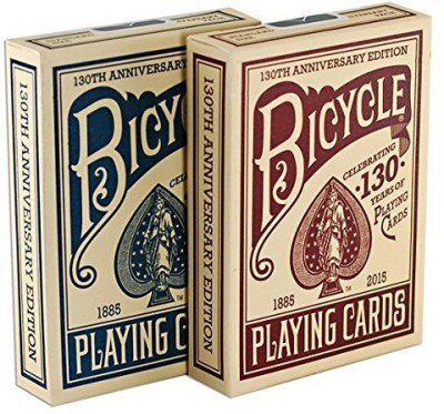 US Playing Card Company Bicycle 130Th Anniversary Edition Red & Blue Playing2 Deck