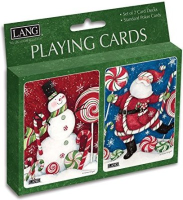 Perfect Timing Puzzles Lang Peppermint Christmas Playing Susan Winget (Set Of 2)