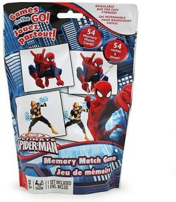 Marvel Ultimate Spider Man Memory Match Game Travel Edition