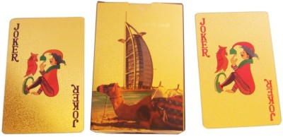 Zavia Playing Card Gold Plated Burj Printed