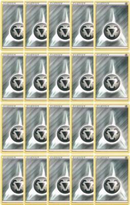 Pokemon 20 Basic Metal Energy(Xy/Black And White Series