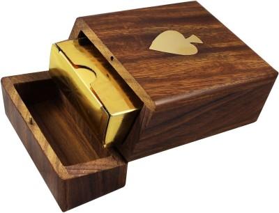 Kartique Hand Made Wooden Box(Golden, Brown)