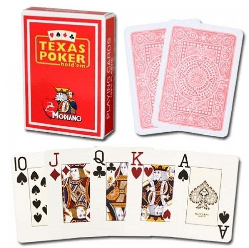 Modiano Texas Poker Jumbo Red