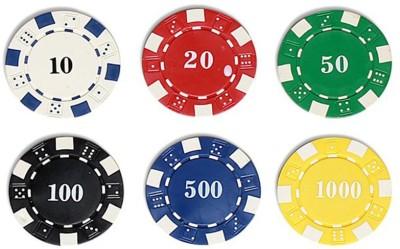 ZAVIA 100 Pcs Loose Diced Poker Chip Set