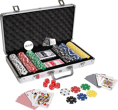 Casinoite 300 Pieces Diced Poker Chip Set with Denomination Toy