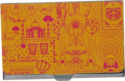 Mad(e) in India Unisex 10 Card Holder(Set of 1, Multicolor)