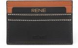 Rene 4 Card Holder (Set of 1, Black)