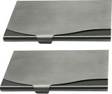 Luxantra 10 Card Holder (Set of 2, Silve...