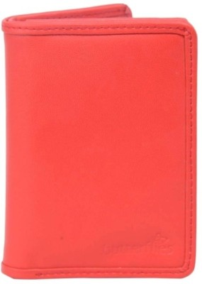 Butterflies Women Red Artificial Leather Wallet