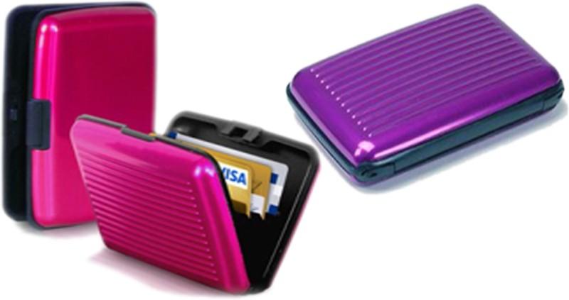 Alexus 6 Card Holder Card Holder Combo of Purple Megenta