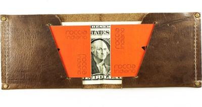 Rocciaindiano Men Tan Genuine Leather Wallet