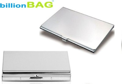 billionBAG | High Quality | Combo of Steel Plain ATM and Visiting 6 Card Holder