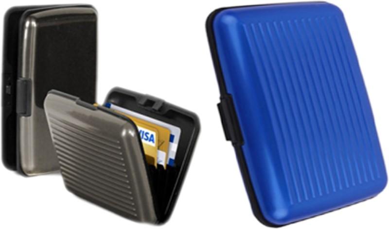 Alexus 6 Card Holder Card Holder Combo of Grey Blue