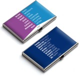 QuoteSutra 10 Card Holder (Set of 2, Blu...