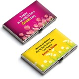 QuoteSutra 10 Card Holder (Set of 2, Yel...