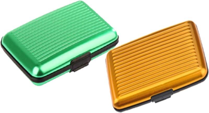 Alexus 6 Card Holder Card Holder Combo of Green Yellow
