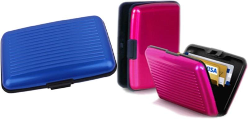 Alexus 6 Card Holder Card Holder Combo of Blue Megenta